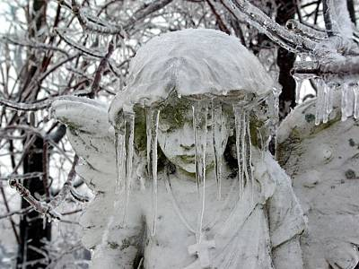 Gothic Angel Ice Art Print by Gothicrow Images