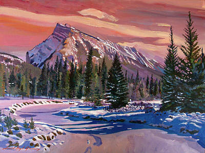 Canadian Rockies Painting - Ice River Sunrise by David Lloyd Glover