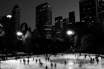 Ice Skating In Central Park Art Print