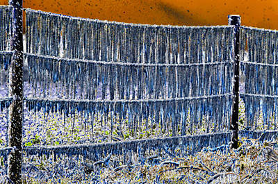 Barbed Wire Fences Digital Art - Ice Storm by David Lee Thompson