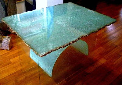 Reclaimed Glass Glass Art - Ice Table  by Rick Silas