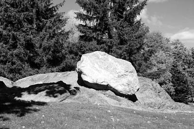 Iceage Rock In Black And White Art Print