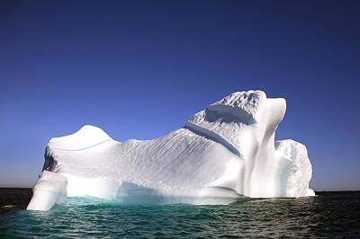 Iceberg In The Canadian Arctic Art Print by Richard Wear