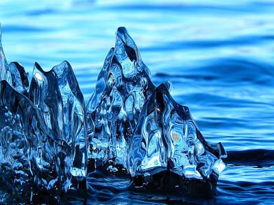 Iceberg River Art Print
