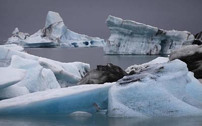 Icebergs Art Print by Arnar B Gudjonsson