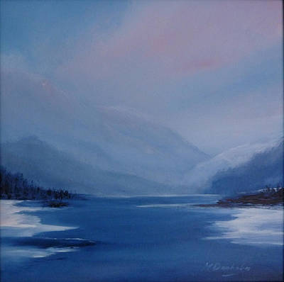 Scotland Painting - Iced Over by Margaret Denholm