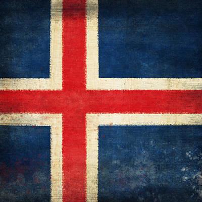 Iceland Flag Print by Setsiri Silapasuwanchai