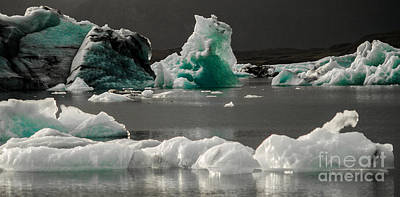 Photograph - Iceland Icebergs by Michael Canning