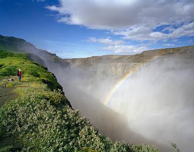 Dettifoss Photograph - Iceland, Jokulsargljufur National Park, Dettifoss Waterfall by Diane Cook and Len Jenshel