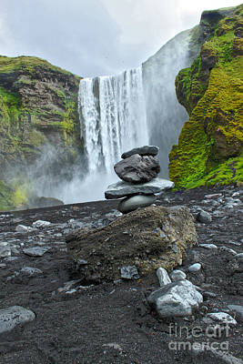 Photograph - Iceland Skogar Waterfall 04 by Gregory Dyer