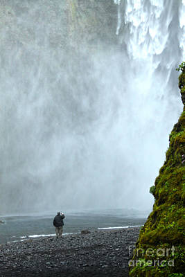 Photograph - Iceland Skogar Waterfall 08 by Gregory Dyer