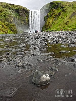 Photograph - Iceland Skogar Waterfall 09 by Gregory Dyer