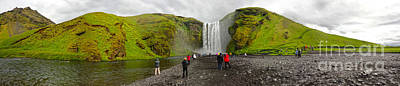 Photograph - Iceland Skogar Waterfall 10 by Gregory Dyer