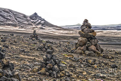 Photograph - Iceland Stacked Rocks by Gregory Dyer