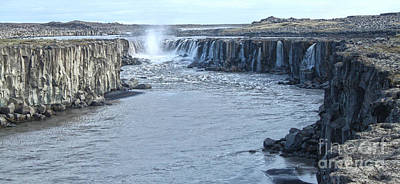 Photograph - Iceland Waterfall Selfoss 03 by Gregory Dyer