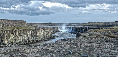 Photograph - Iceland Waterfall Selfoss 04 by Gregory Dyer