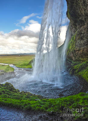 Photograph - Iceland Waterfall Seljalandsfoss 01 by Gregory Dyer