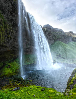 Photograph - Iceland Waterfall Seljalandsfoss 03 by Gregory Dyer