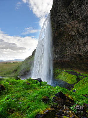 Photograph - Iceland Waterfall Seljalandsfoss 04 by Gregory Dyer