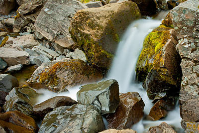 Photograph - Icelandic Waterfall Close Up by Anthony Doudt