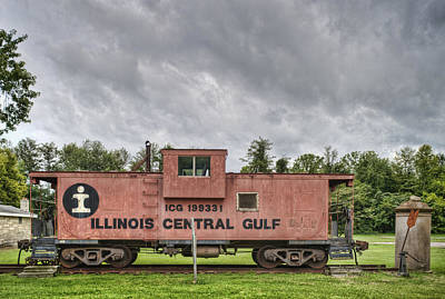 Icg Caboose Art Print by Jim Pearson