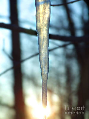 Photograph - Icicle Sunset Photograph by Kristen Fox