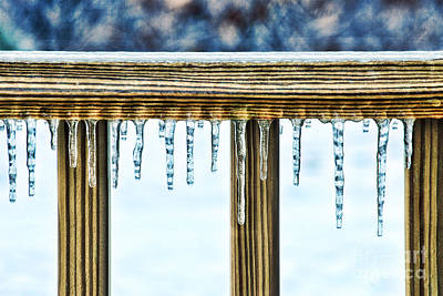 Natural Abstract Photograph - Icicles by HD Connelly