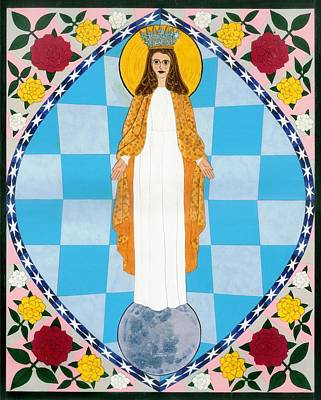 Icon Of The Immaculate Conception Art Print by David Raber