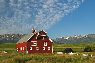 Wallowa Photograph - Iconic Red Barn by Alvin Kroon
