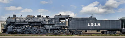 Icrr Steam Engine 1518 Art Print