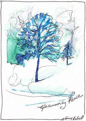 Icy Blue Christmas Original by Michele Hollister - for Nancy Asbell