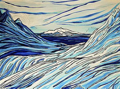Icy Blues Art Print by Stephanie Meyer