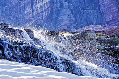Photograph - Icy Cascade by Albert Seger