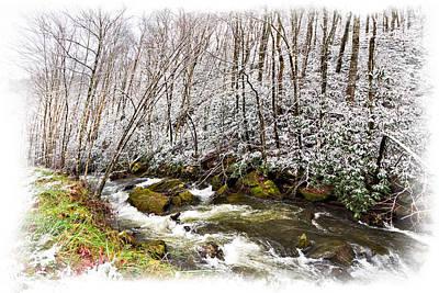 Icy Landscape Art Print by Debra and Dave Vanderlaan