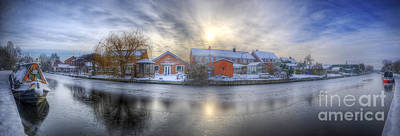 Photograph - Icy River Panorama by Yhun Suarez