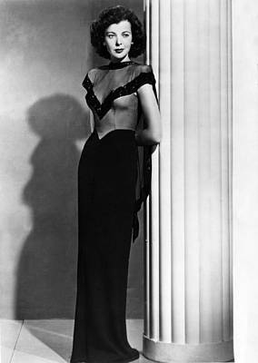 Evening Gown Photograph - Ida Lupino, 1945 by Everett