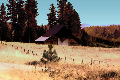 Idaho Barn Painting Art Print by Mary Gaines