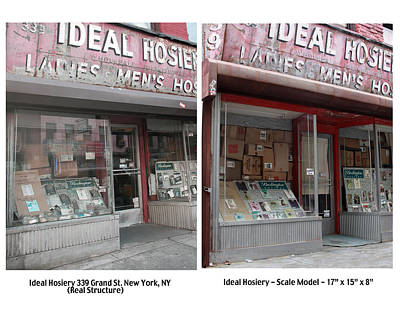 Commercial Archeology Sculpture - Ideal Hosiery New York Store Front by Randy Hage
