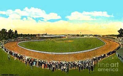 Painting - Ideal Park Racetrack In Endicott N Y In 1920 by Dwight Goss