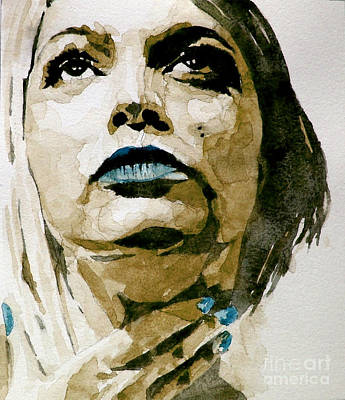 Watercolor Portraits Painting - If There's A Big Guy Up There by Paul Lovering