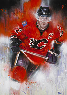 Calgary Flames Painting - Iginla by Gary McLaughlin