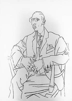 Igor Stravinsky, Russian Composer Art Print by Omikron