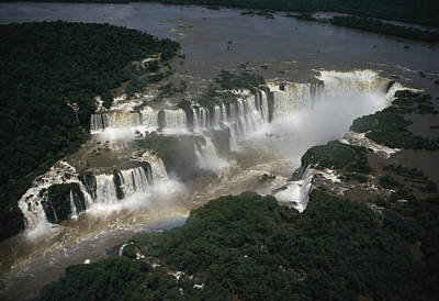 International Border Photograph - Iguazu Falls Lies On Border by Winfield Parks