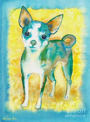 Painting - Ilio Chihuahua by Frances Ku