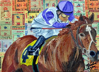I'll Have Another Wins Art Print by Michael Lee