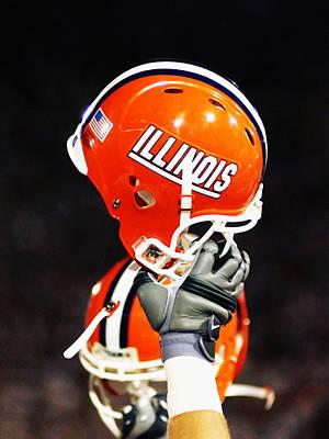 Memorial Stadium Photograph - Illinois Football Helmet  by University of Illinois