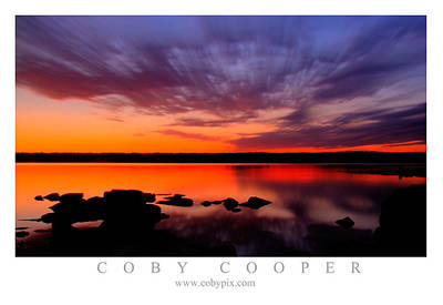 Photograph - Illinois River Sunset by Coby Cooper