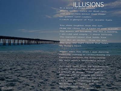 All Occasion Card Mixed Media - Illusions Poem by Debra     Vatalaro