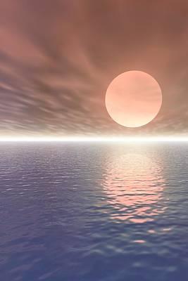 Vern Photograph - Illustrated Sun Over A Seascape by Paul Sale Vern Hoffman