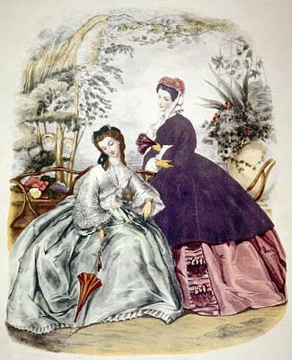 Illustration Of 19th Century Fashions Art Print by Everett